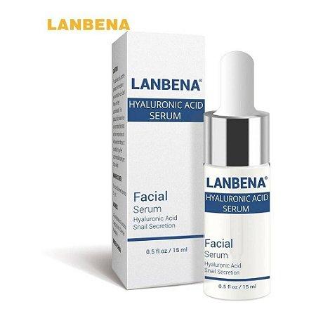 Serum Facial Ácido Hialurônico Puro Anti Idade Rugas Clareador Manchas Acne Botox Recuperação Da Pele Seca Sensível Lanbena 15 Ml