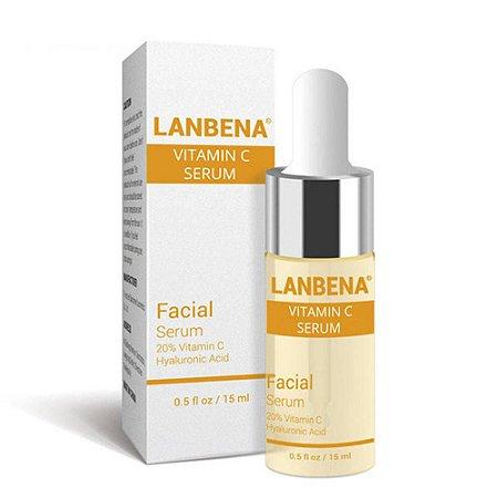 Serum Facial Vitamina C Ácido Hialurônico Anti Envelhecimento Rugas Clareador Manchas Acne Botox Lanbena 15 Ml