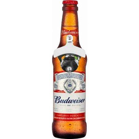 Abridor de Garrafa Cerveja Parede Personalizado Budweiser 28cm