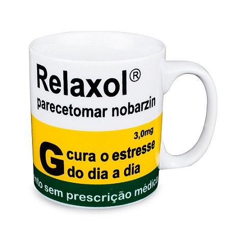 Caneca Personalizada Relaxol Paracetomar Nobarzim Porcelana 300ml Presente Aniversário Brinde