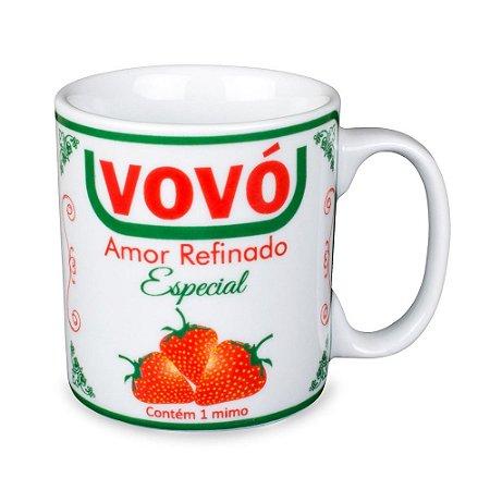 Caneca Vovó União Porcelana 300ml Presente Aniversário Brinde