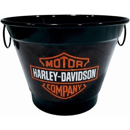 Balde De Gelo 6 Litros Em Alumínio Personalizado Pintura Eletrostática Harley Davidson