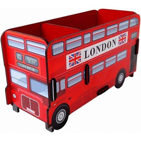 Porta Objetos Controle Remoto Acessórios Ônibus London Vermelho