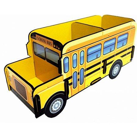 Porta Objetos Controle Remoto Acessórios Ônibus Escolar Amarelo