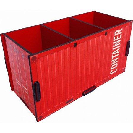Porta Objetos Controle Remoto Acessórios Container Vermelho