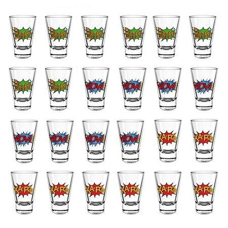 Conjunto 24 Copos Shot Dose Tequila Aperitivo Cachaça Bar Restaurante Pub 90ml