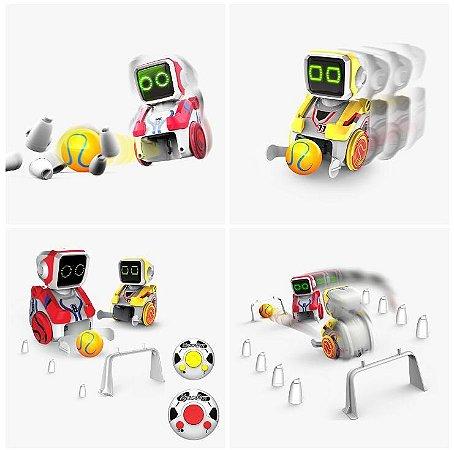 Brinquedo Robô Jogador De Futebol Boliche Corrida Controle Remoto Kickabot Silverlit
