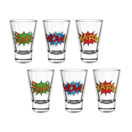 Conjunto 6 Copos Shot Dose Tequila Aperitivo Cachaça 90ml