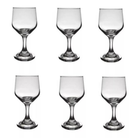 Taça De Água Vinho 300ml Vidro Bistrô Cisper