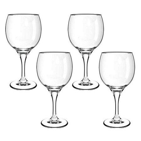 Taça Cisper 620ml Com 4 Unidades Para Vinho Premiere Gran Vino