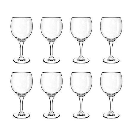 Jogo 8 Taças 620ml Vidro Transparente Resistente Premiere Gran Vino
