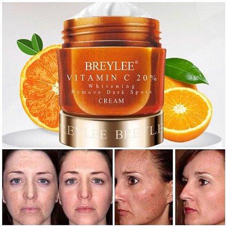 Vitamina C Pura Creme Facial Manchas Escuras Sardas Melasma 40g Breylee