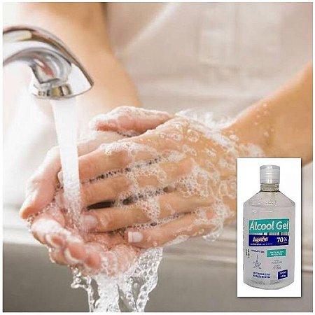 Álcool Gel 70% Combate Vírus Bactérias Germes Jugatha 500ml