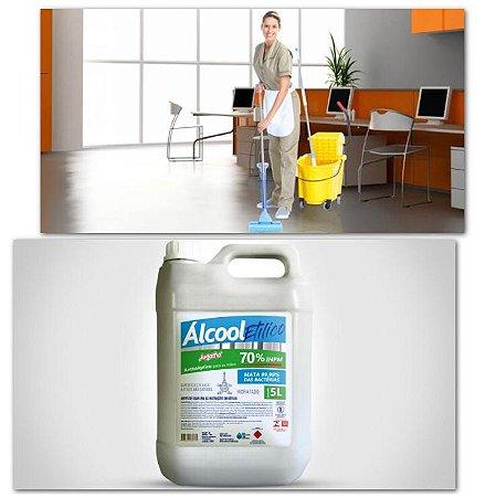 Desinfecção Com Álcool Etílico 70% De Superfícies Contaminadas Sem Limpeza 5 Litros