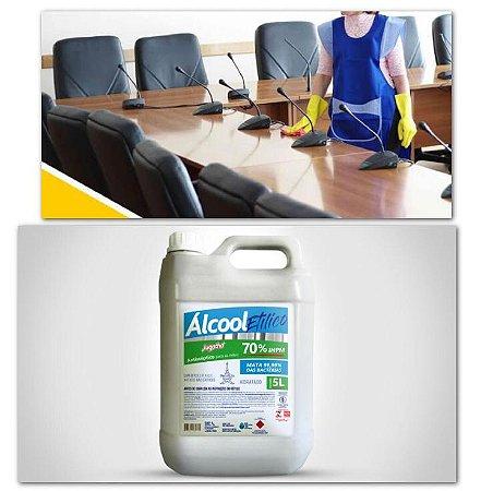 Galão 5 Litros Econômico Tamanho Família Álcool Etílico Liquido 70% Para Mãos Antisséptico Bactericida