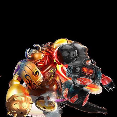 Robôs Batalha Som Luzes Robo Kombat Vikings Silverlit DTC