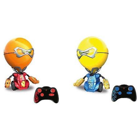 Robo Kombat Boom Balão Óculos Removíveis 5 Ações Efeitos Sonoros Função Combo De Socos Dtc
