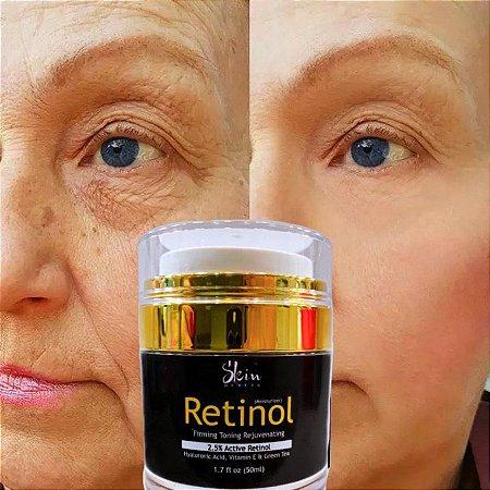 Retinol 2,5% Puro Creme Anti Idade + Rosa Mosqueta Gratis