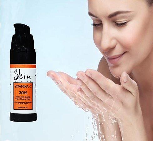 Serum Anti-idade Vitamina C 20% Pura 30ml Pump Skin Health