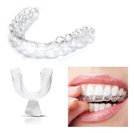Protetor Dental Anti Bruxismo Silicone Anti Ronco Ranger Dentes Desgaste Dental Tamanho Universal Par
