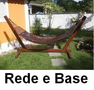 Rede de descanso solteiro -Madeira e suporte Merco Comercial