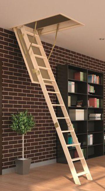 Escada de madeira para sotão LWS 60x130x305