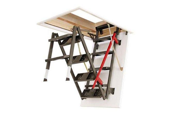 Escada para sótão em metal LML-Luxo FAKRO 60x130x305