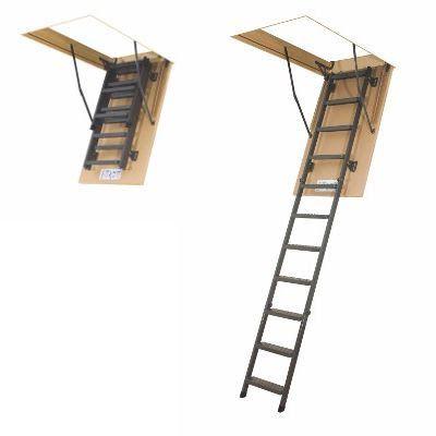 Escada para sótão em metal LMS FAKRO 60x130x305