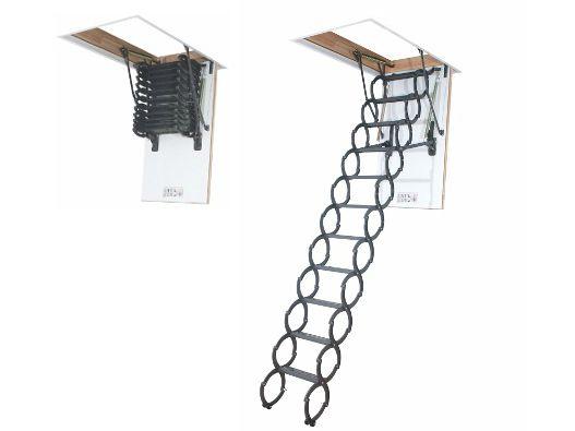 Escada para sótão em metal LST FAKRO 70x120x280