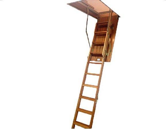 Escada de madeira para sotão 3,00 M B 58x128x300