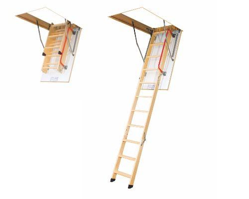 Escada de madeira para sotão LWK Komfort Fakro 60x120x280
