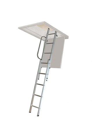 Escada de Alumínio para Sótão com 2 lances de 6 degraus cada / 2,90 mt