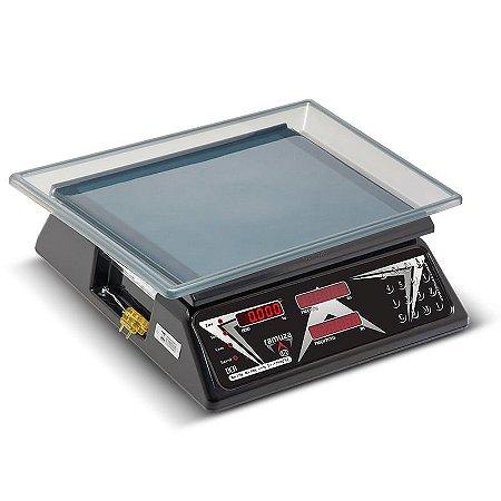 Balança Computadora DCRB CL 30 PR Capacidade 30kg/10g Preta / Branca  (bateria)