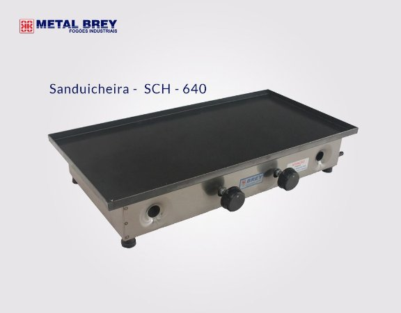 Sanduicheira Dupla sem Prensa SCH - 640 / Metal Brey