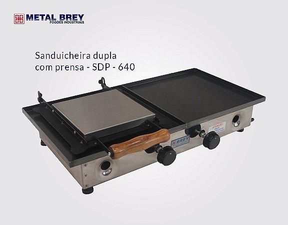 Sanduicheira Dupla com Prensa SDP - 640 / Metal Brey