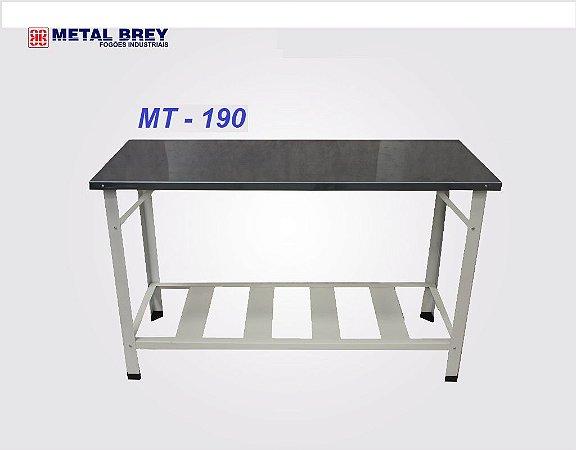 Mesa de Trabalho 1,90 m x 0,80 m ( MT 190 ) ESTRUTURA AÇO PINTADO Metal Brey