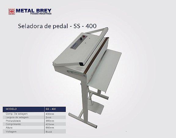 Seladora de Pedal Bivolt  SS-400 Metal Brey