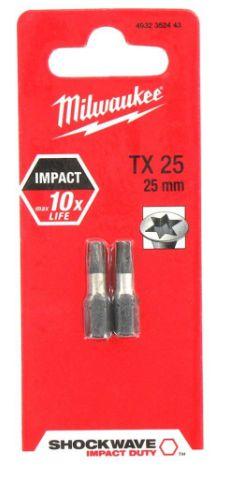 Bit Torx Tx25 X 25mm C/02 PCS Milwaukee