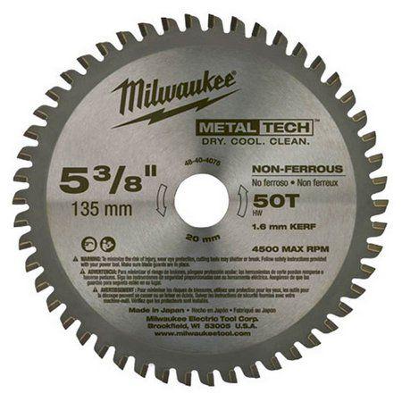 """Disco de Serra P/Metais 5.3/8"""" 50D - Não Ferrosos - 48-40-4075 Milwaukee"""