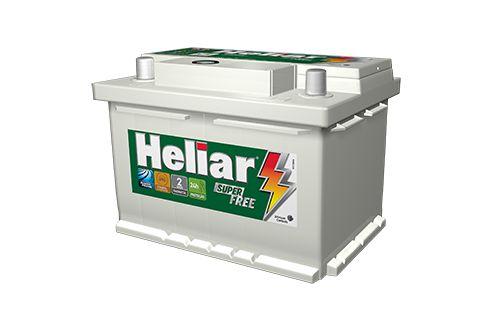 Bateria Heliar Free 60 AH - 2 Anos De Garantia