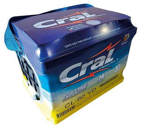 Bateria Cral 60 AH 18 Meses de Garantia