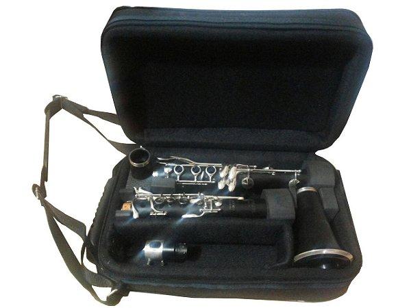 Estojo para clarinete Sib em couro natural