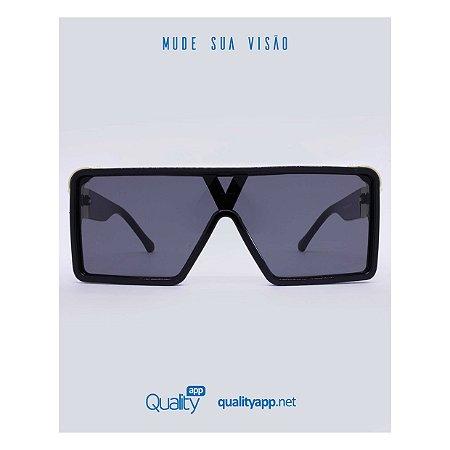 Óculos Olímpia Preto com Dourado