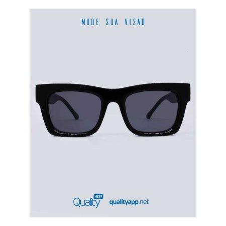 Óculos Munique Preto e Dourado