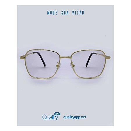 Óculos Roma Dourado Transparente