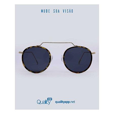 Óculos Mônaco Onça com Dourado