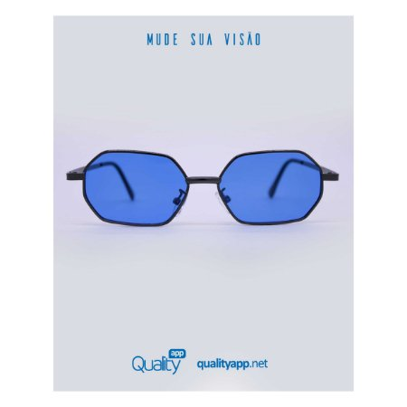 Óculos Dallas Preto e Azul