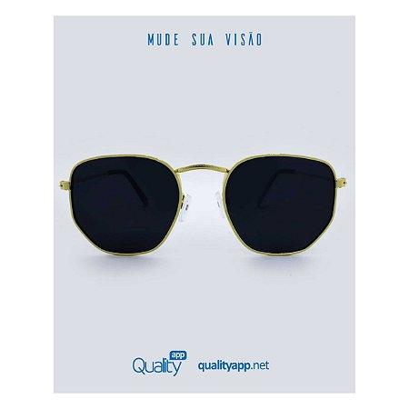 Óculos Detroit Dourado e Preto