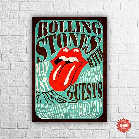 Quadro Poster Altamont Speedway Rolling Stones