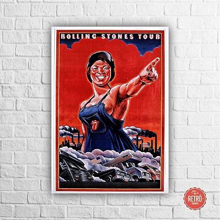 Quadro Poster Rolling Stones Tour